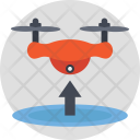 Drone Taking Off Launchpad Icon