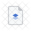 Document Paper Dropbox Icon