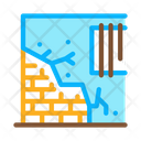 Dropped Foundation House Icon