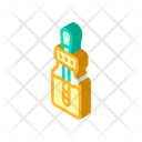 Herbal Drops Isometric Icon