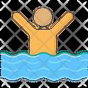Drown Emergency Help Icon