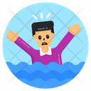 River Drowning Drowning Sinking Icon