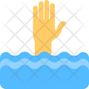 Drowning Help Concept Icon