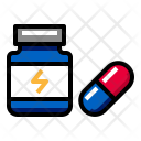 Protein Supplement Drug Icon