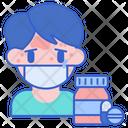 Drug Allergy Pill Bottle Icon