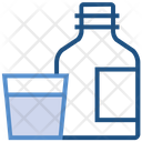 Drugs Glass Bottle Icon