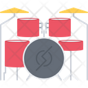 Drum Kit Music Icon