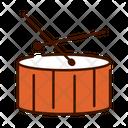 Drum Drum Sticks Musical Instrument Icon