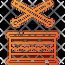 Drum Drum And Sticks Sticks Icon