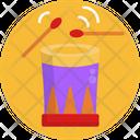 Drum Drum Stick Traditional Icon