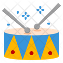 Drum Circus Musical Instrument Carnival Party Sound Icon