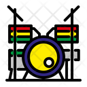 Drum Set Musical Concert Icon
