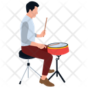 Drum Beater Man Beating Drum Musician Icon