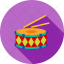 Drums Music Christmas Icon