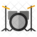 Drum Set Music Icon