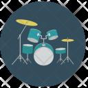 Drumset Music Equipment Icon
