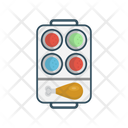 Drumstick Fastfood Plate Icon