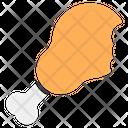 Drumstick Baked Chicken Leg Piece Icon