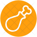 Drumstick Chicken Eating Icon