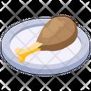 Drumstick Chicken Piece Leg Piece Icon