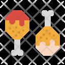 Drumstick Chicken Fried Icon