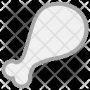 Drumstick Chicken Piece Icon
