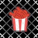 Drumstick Chiken Bucket Chiken Bucket Junk Food Icon