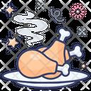 Drumsticks Baked Chicken Leg Piece Icon