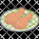 Drumsticks Leg Piece Fried Chicken Icon