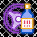 Drunk Driving Crash Icon
