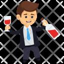 Drunk Boozing Drinking Icon