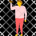 Drunk Man Drinking Icon