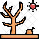 Dry Tree Natural Disaster Icon