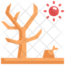 Dry Tree Global Warming Icon