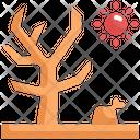 Dry Tree Global Warming Icon