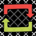Dual Arc Arrow Data Sync Share Files Icon