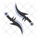 Dual Daggers Weapon Weapons Icon