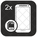 Dual Sim Card Icon