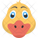 Yellow Duck Face Icon