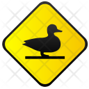 Duck Sign Road Icon