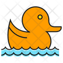 Duck Swim Cute Icon