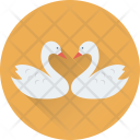 Duck Love Kissing Icon