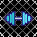 Hostel Dumbbell Gym Icon