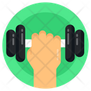 Gym Equipment Dumbbell Barbell Icon