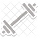 Dumbbell Icon in Sticker Style