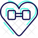 Dumbbell Gym Heart Icon