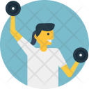 Dumbbell Lifting Icon