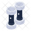 Weightlifting Dumbbells Gym Equipment Icon