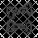 Dumbbells Gym Weights Gymnastics Icon