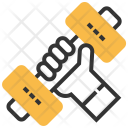 Dumbbells Exercise Fitness Icon